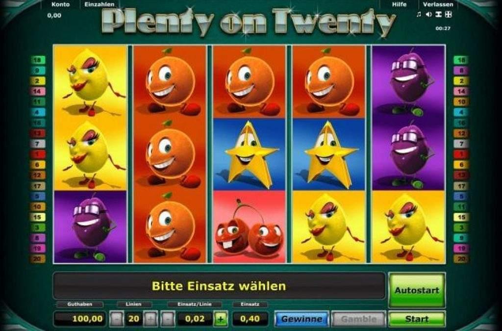 Plenty on Twenty No Download Slot